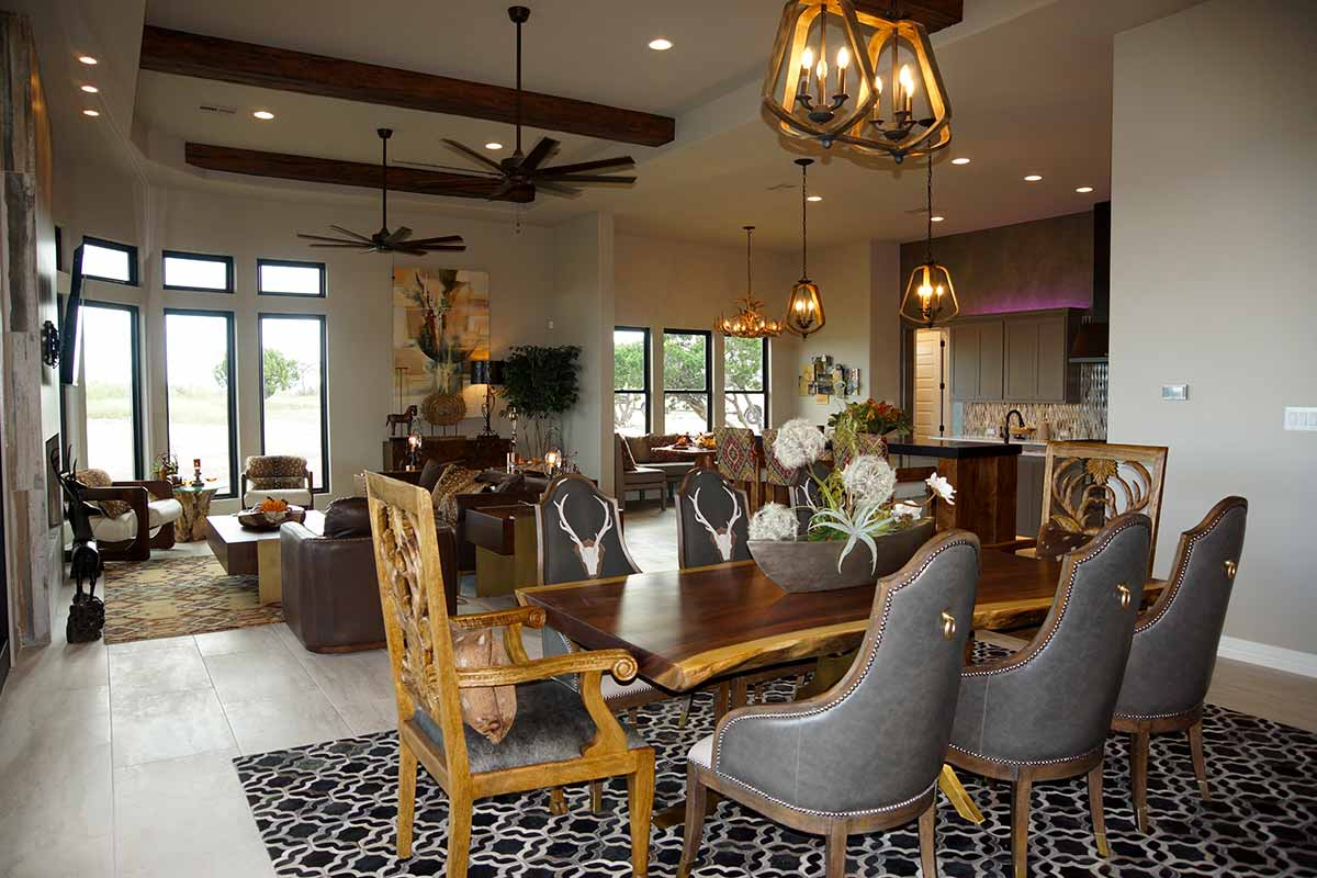 A taste of texas, exquisite dining table and chairs designed by Catrina's Interiors