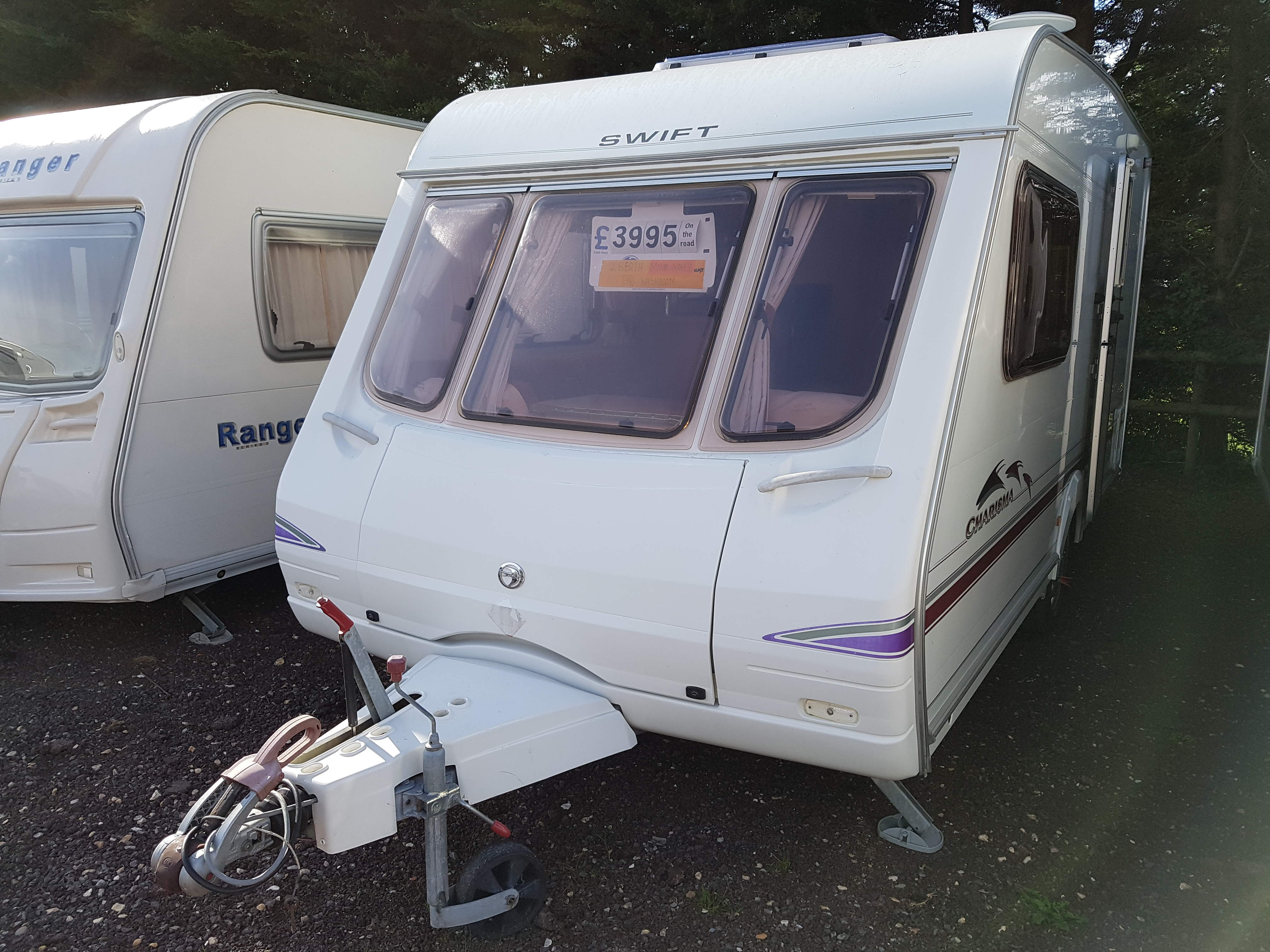 NOW SOLD 2004 Swift Charisma 230 2 Berth End Washroom Caravan with Motor Mover