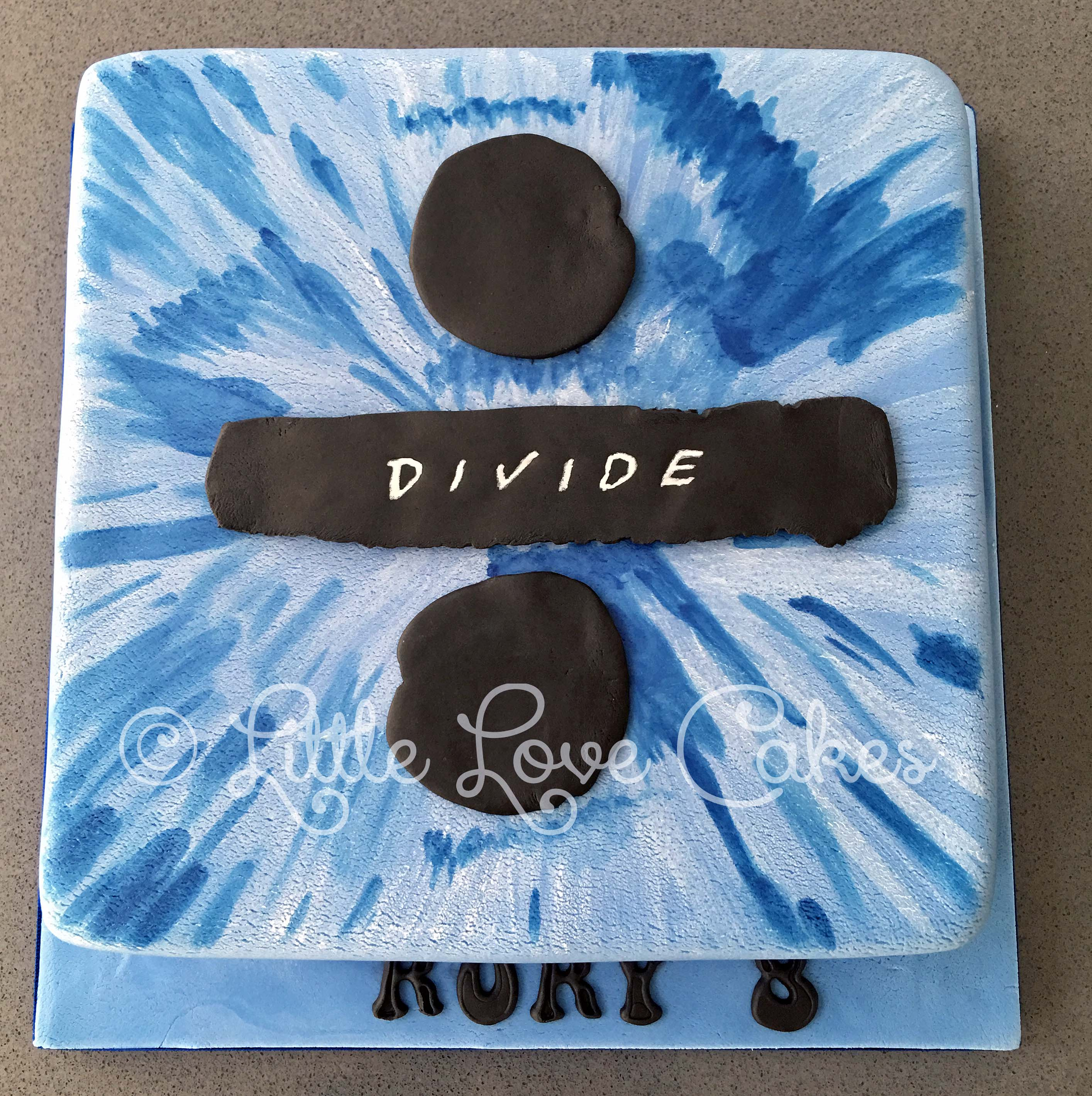 Ed Sheeran Divide album cover cake