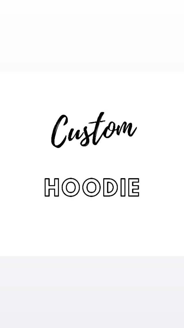 Custom/Personalised Ladies Organic Hoodie