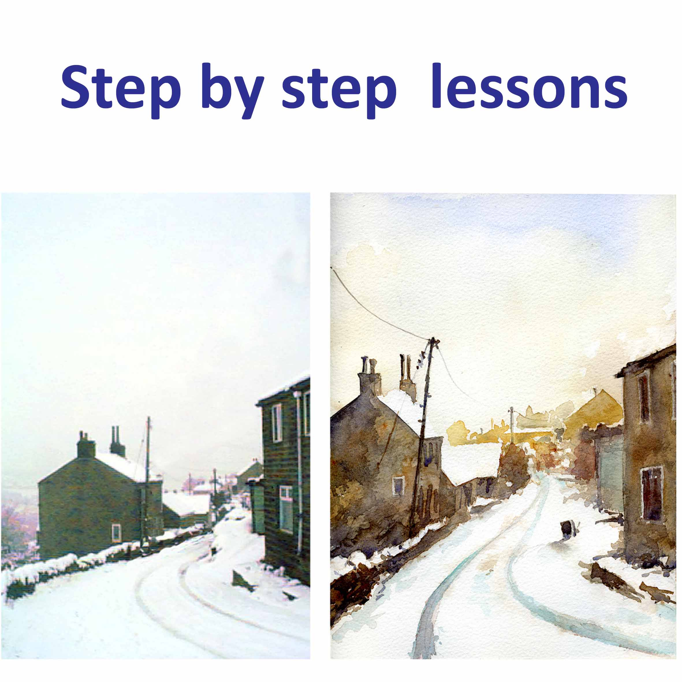 step by step watercolour lessons