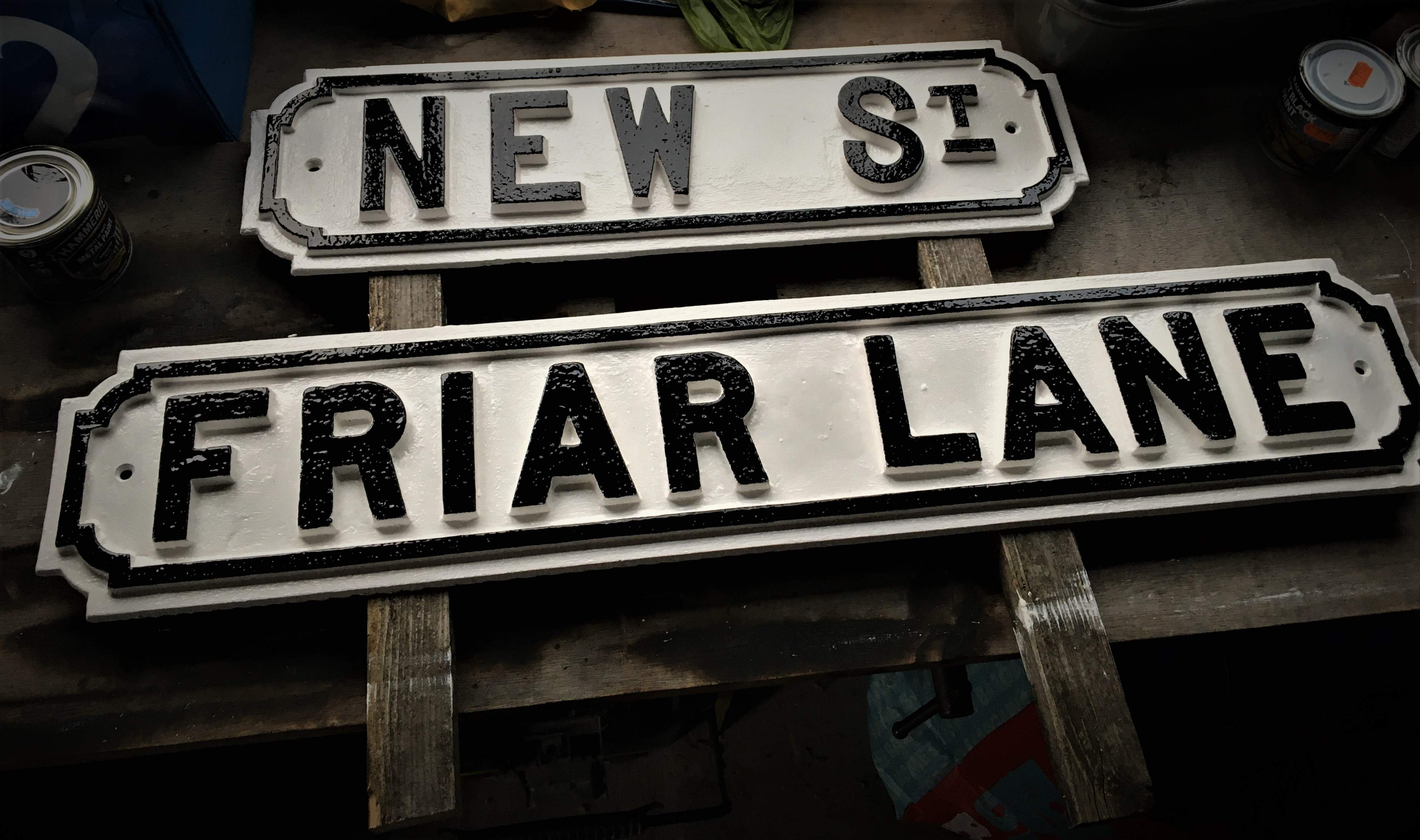 Refurbished street signs