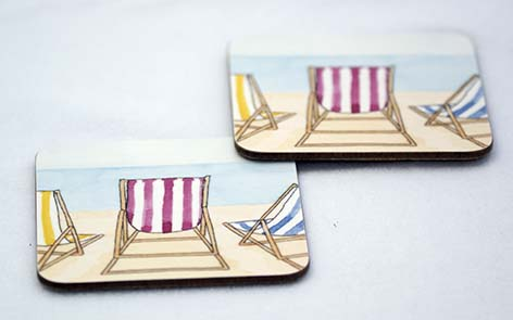 Deckchairs Coaster