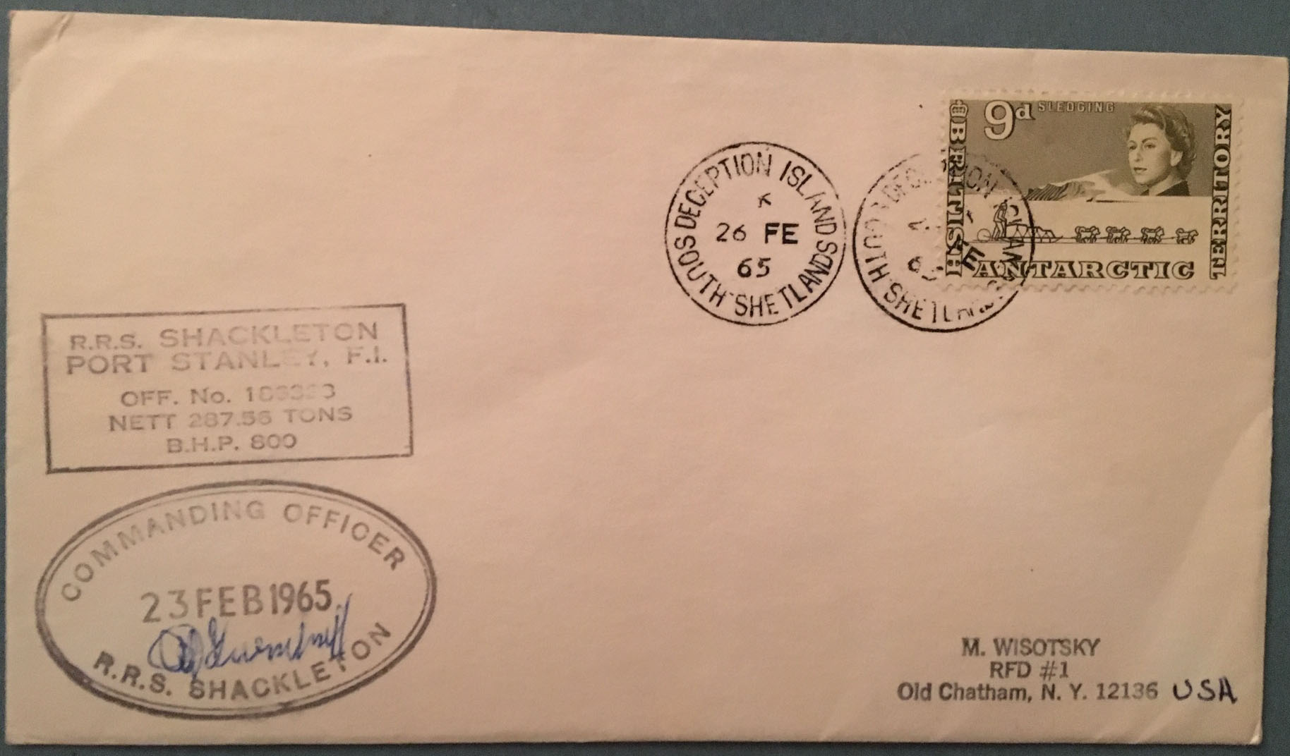 British Antarctic Territory 1965 RRS SHACKLETON