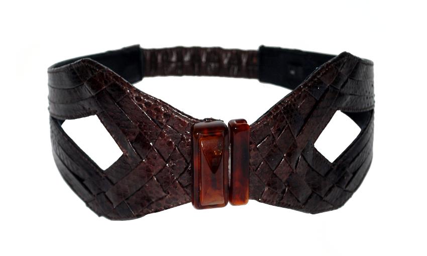 B-Y10-10 chocolate JLYNCH leather belt accessories