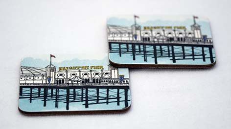 Pier Turquoise Coaster