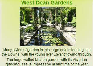 Link to West Dean Gardens website