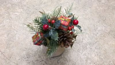 Christmas wreaths from Flowers for you Dalbeattie florists