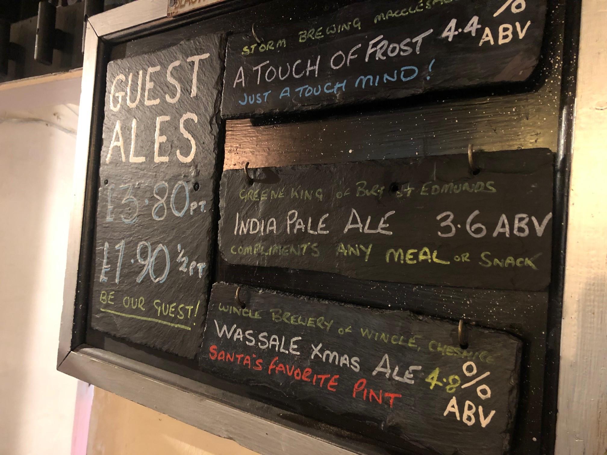 Royal Oak Beer Board