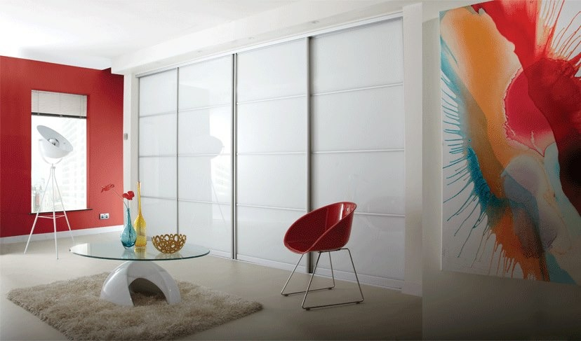 Pure White Glass Panels