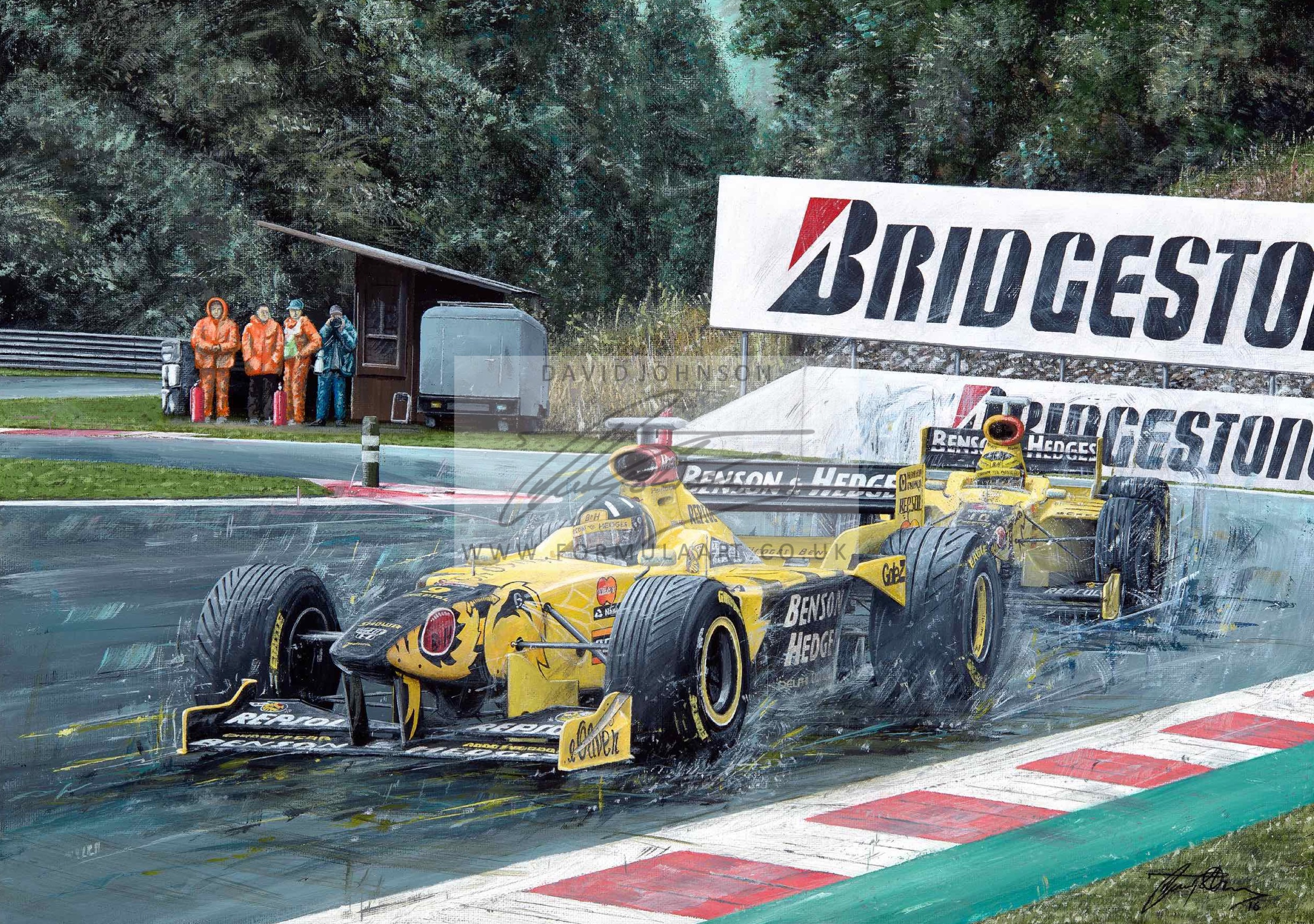 1998 Belgian Grand Prix Original Painting