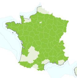 Map smooth snake France