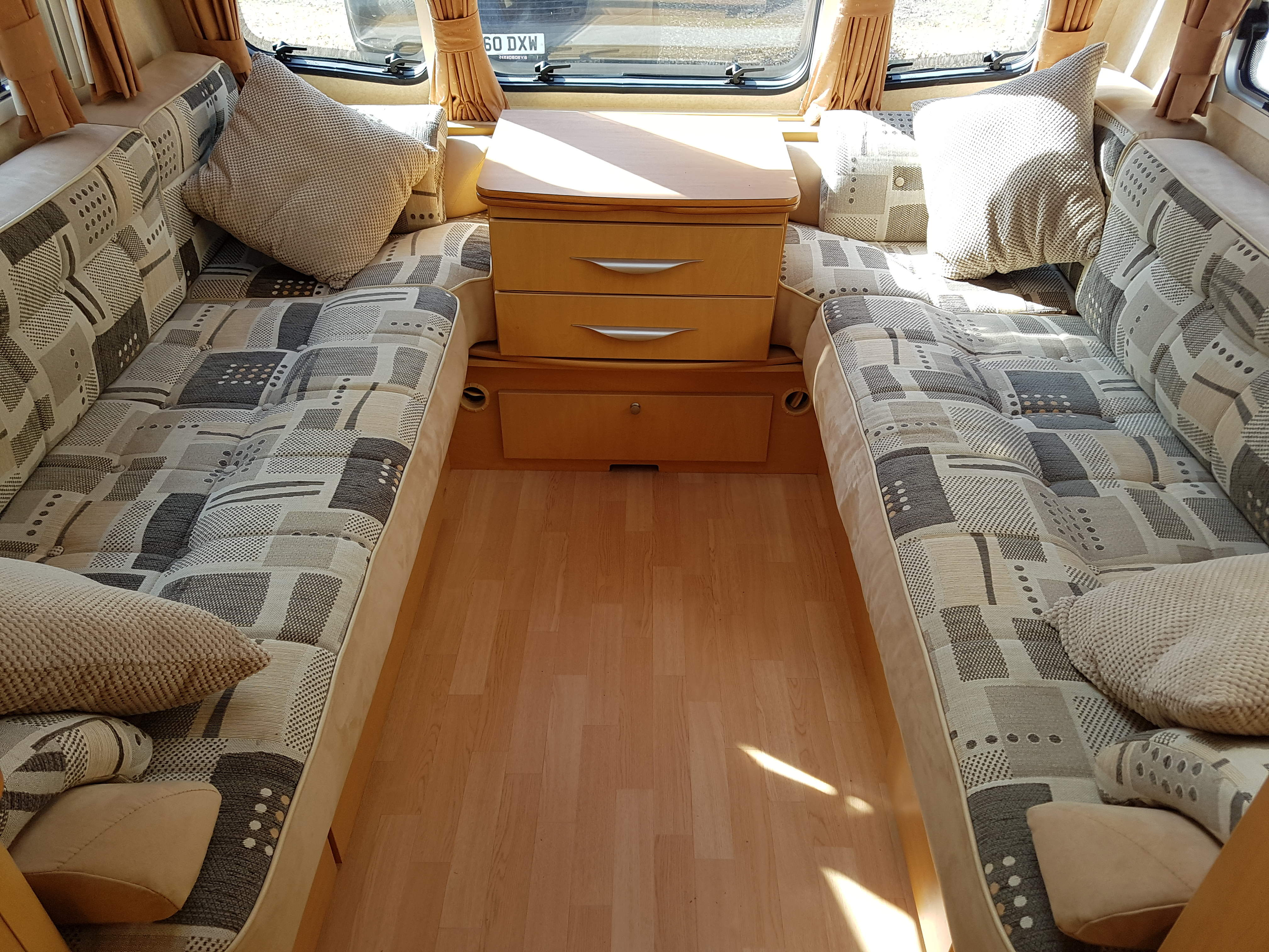 2009 Bailey Senator Vermont 2 Berth End Washroom Caravan with Motor Mover, Porch Awning