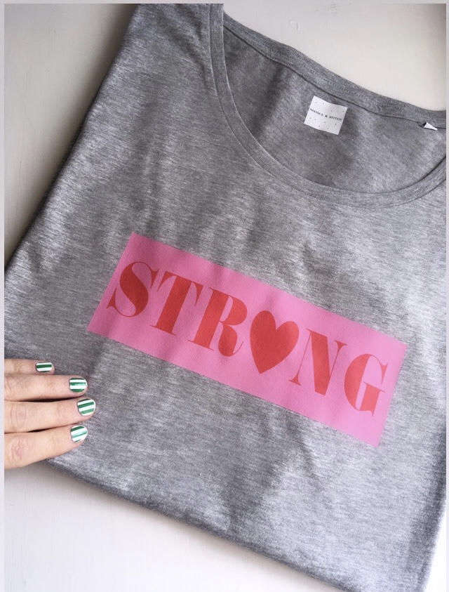 ''STRONG' Ladies Organic Slogan Tee