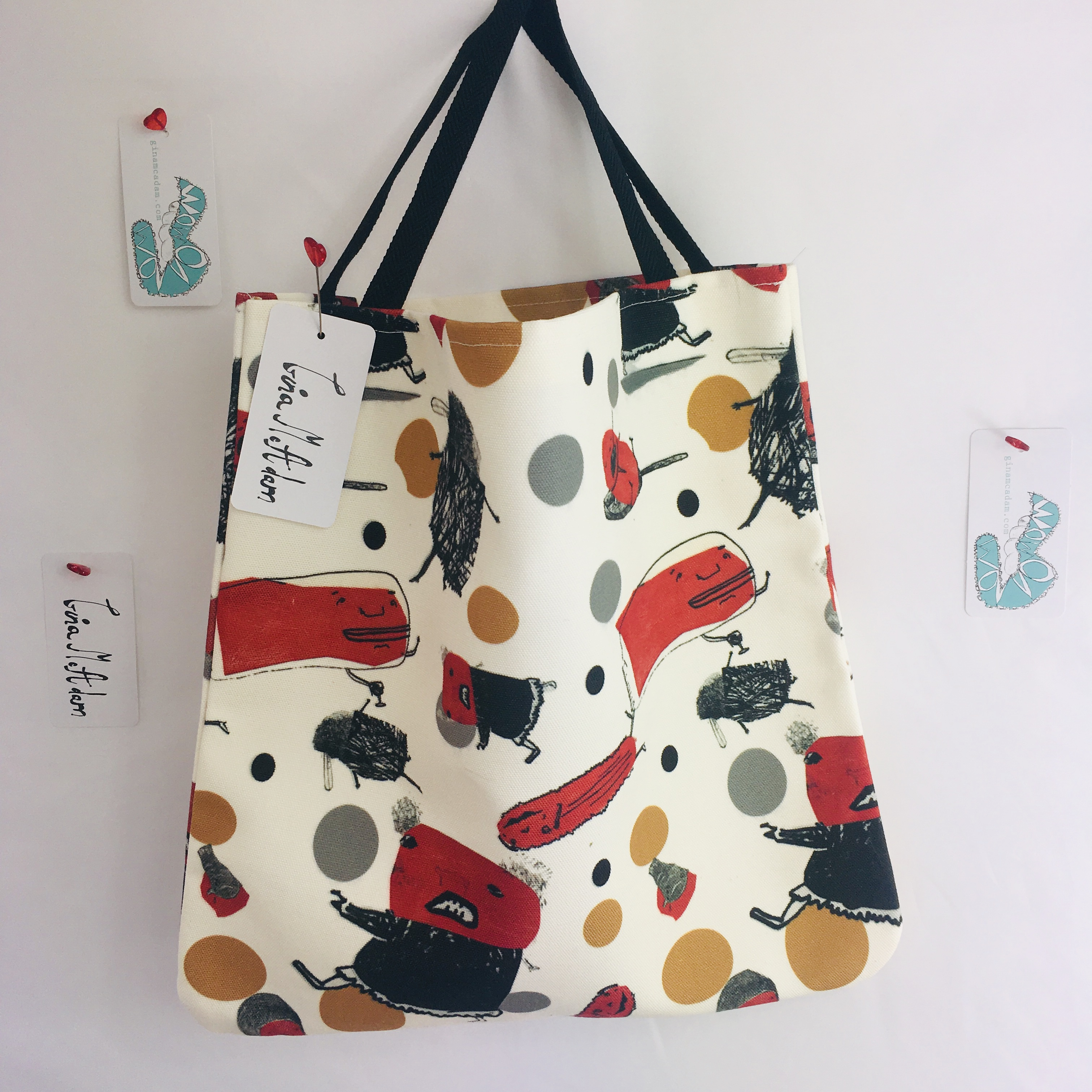 Red Fish Halloween tote