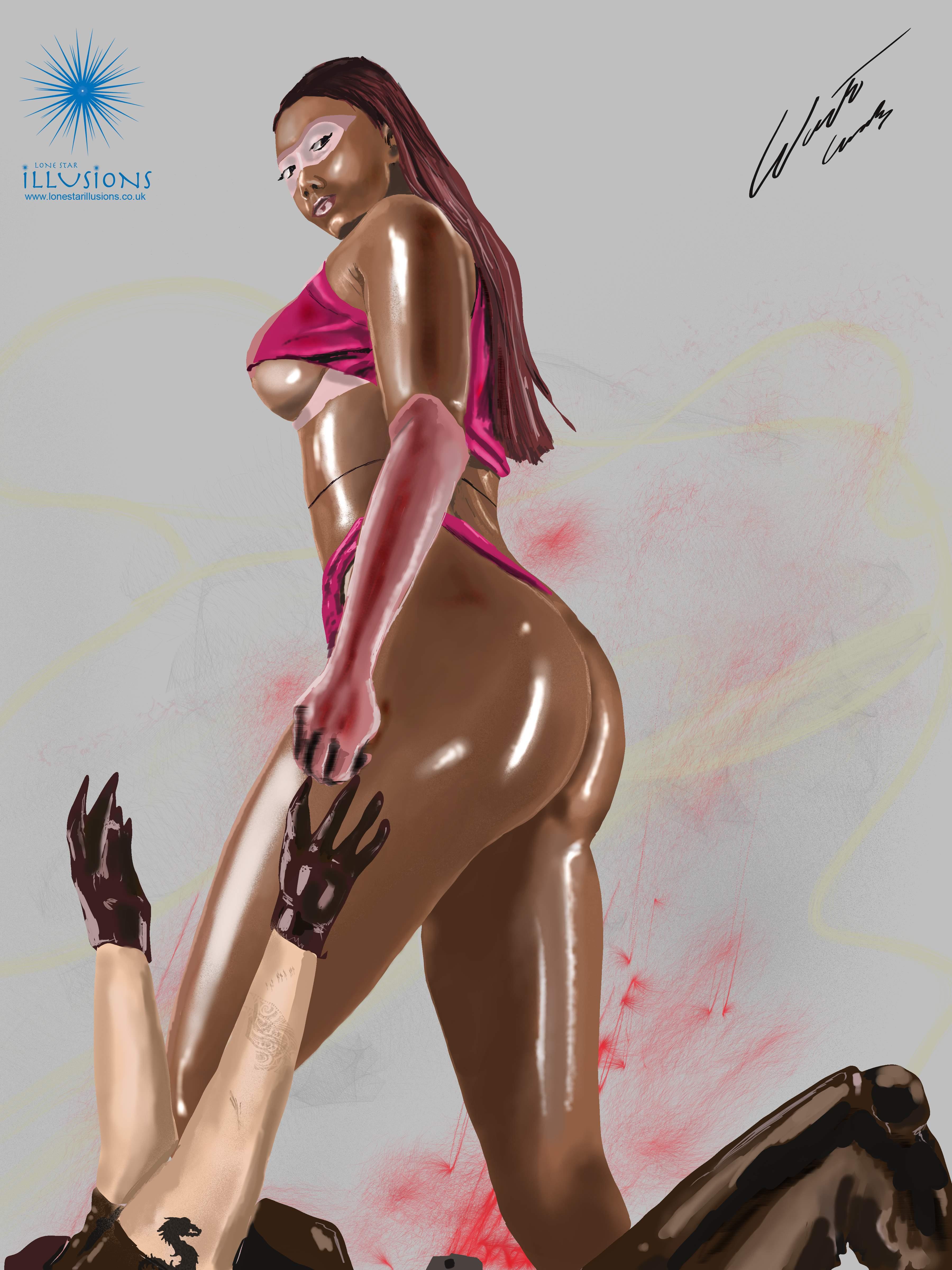 Sexy female, erotic illustration,