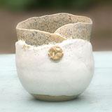 3 Stoneware pots
