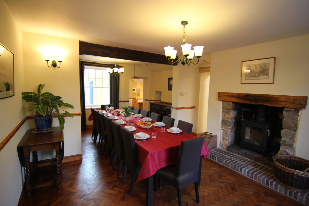 Spacious dining room, with seating for 14 persons