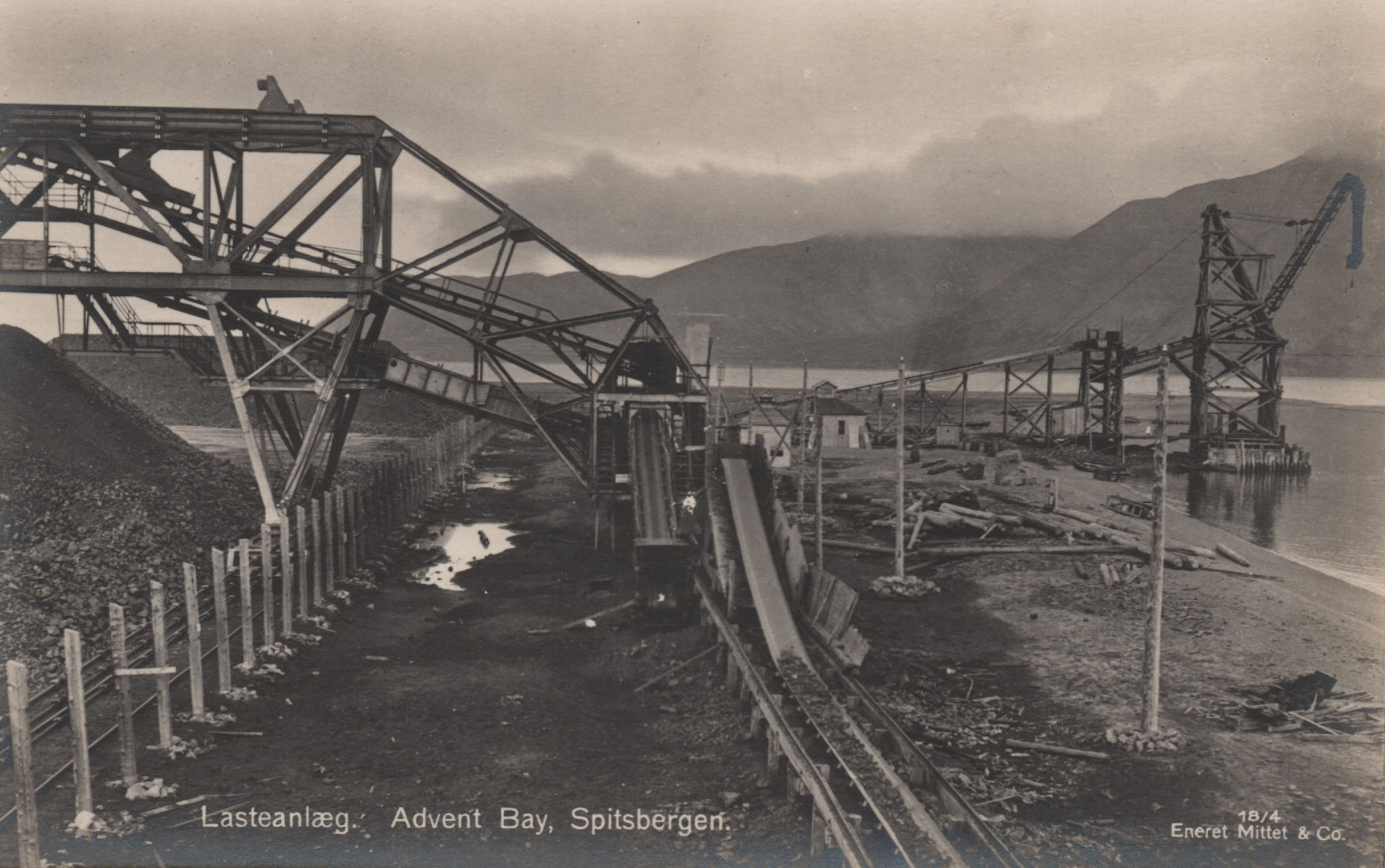 Postcard Mining Equipment Longyearbyen 1925