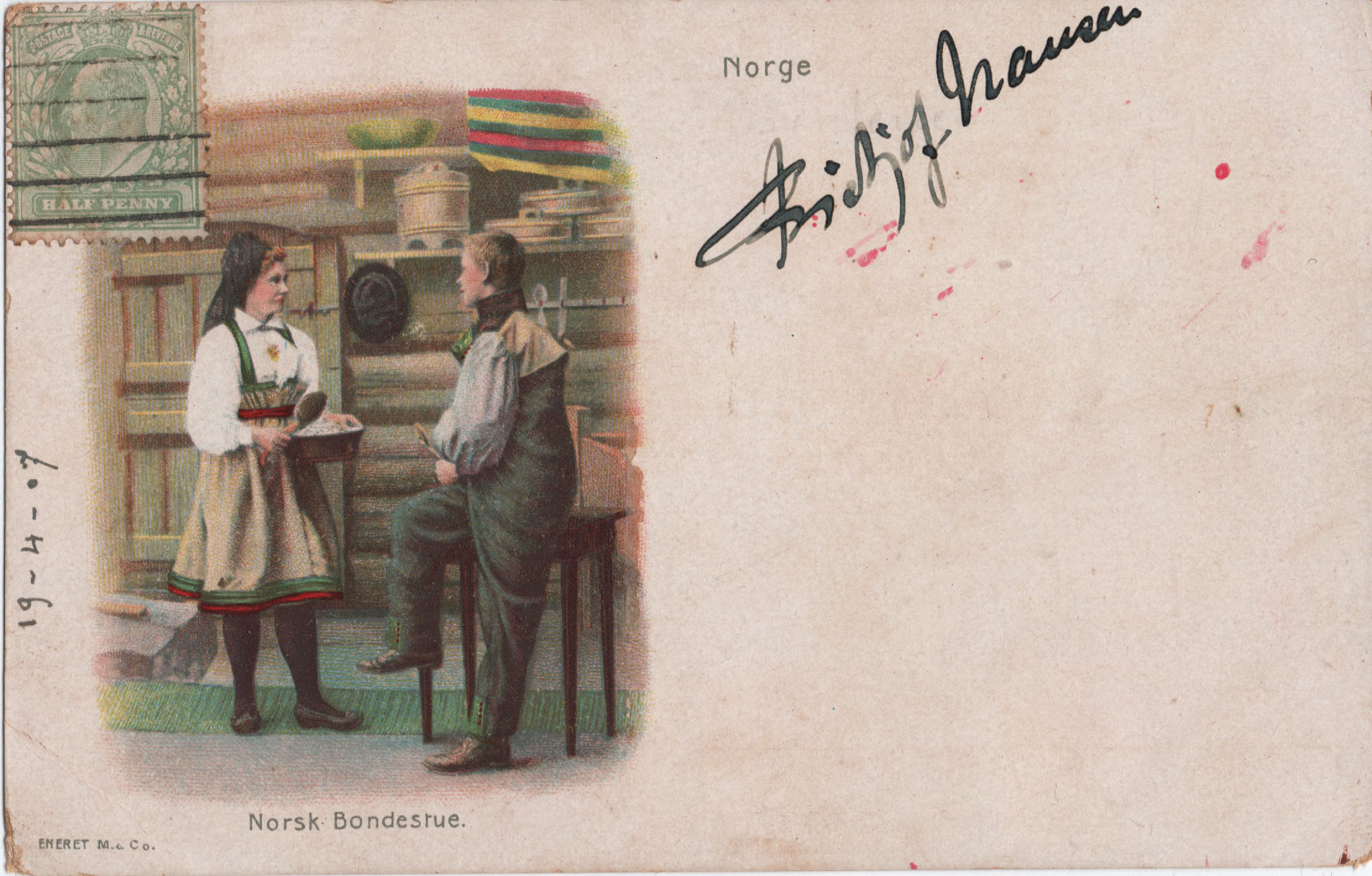 Fridtjof Nansen Signed Postcard 1907