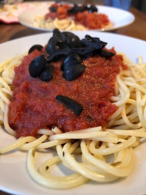 Homemade Tomato pasta with a hilnt of Chilli