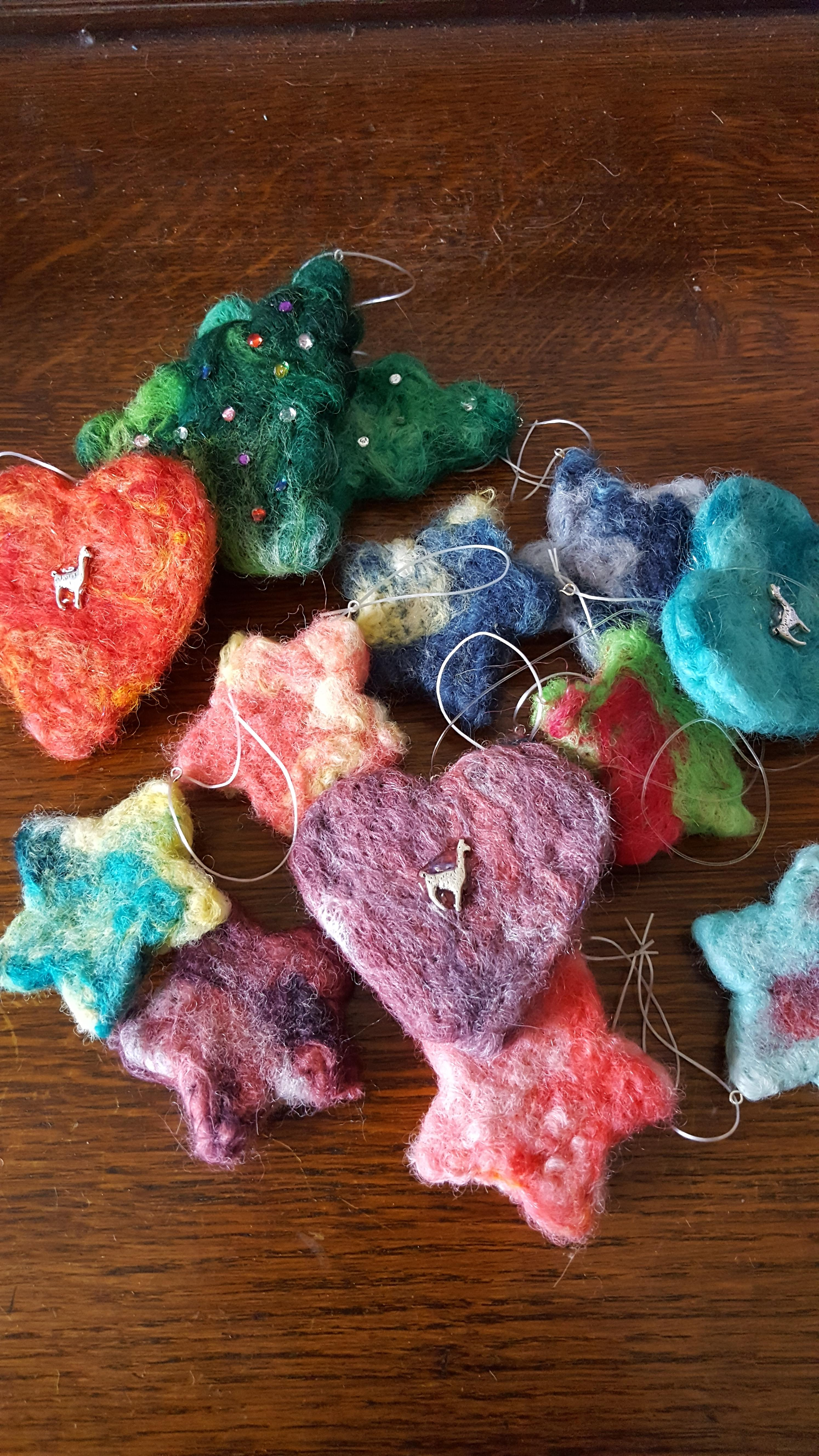 Hand Felted decorations