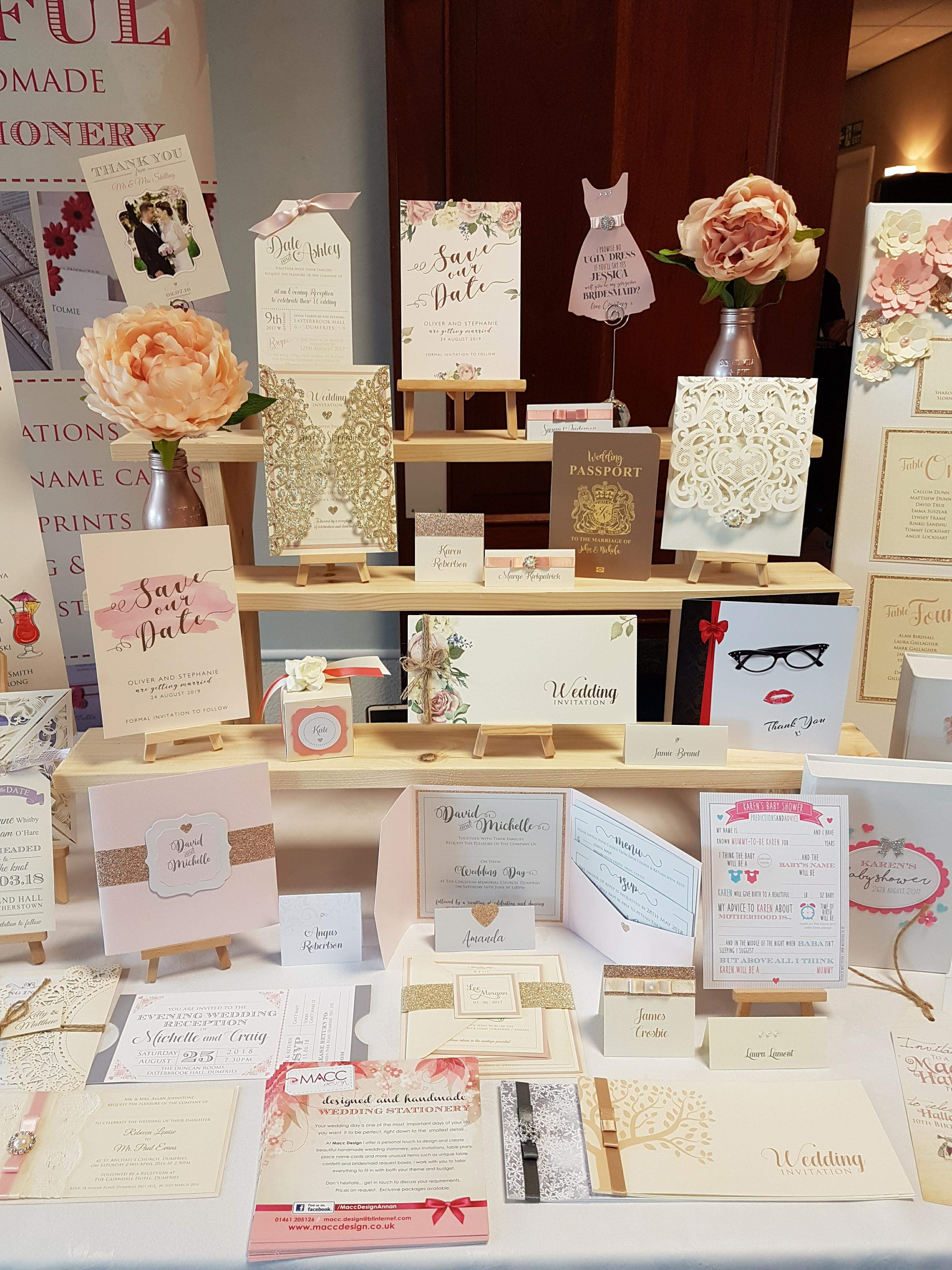 Handmade stationery for your wedding at the Powfoot Hotel Annan