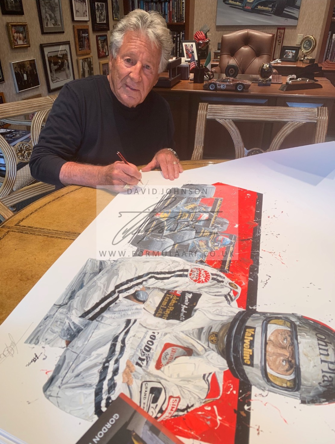 Mario 1978 Champion Giclee DRIVER SIGNED