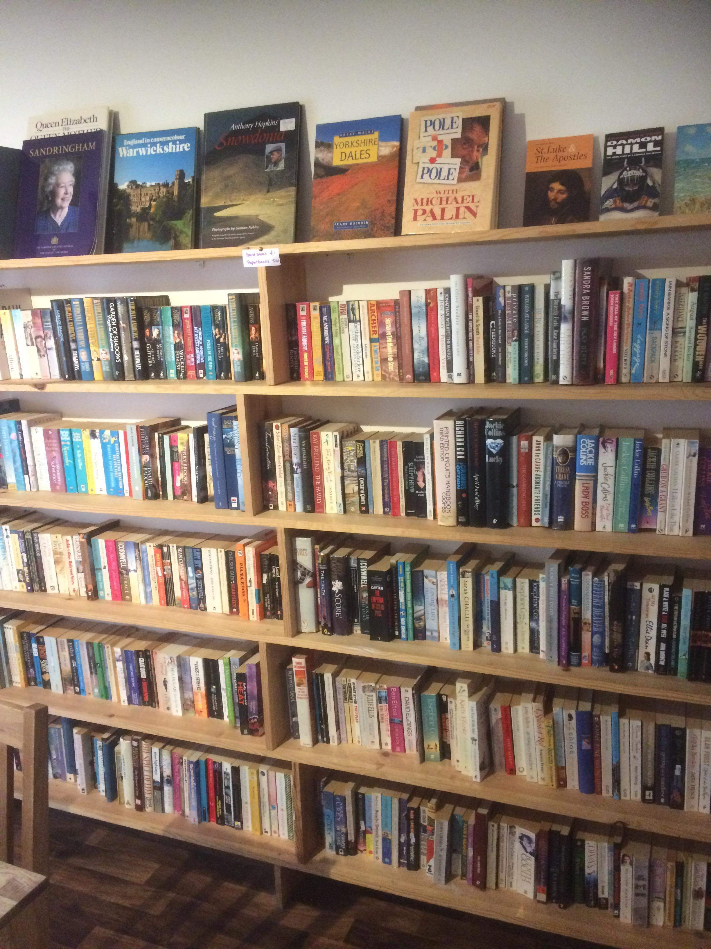 Enjoy a tea or coffe and good food with a good read at the Glaisnock Cafe, Wigtown.