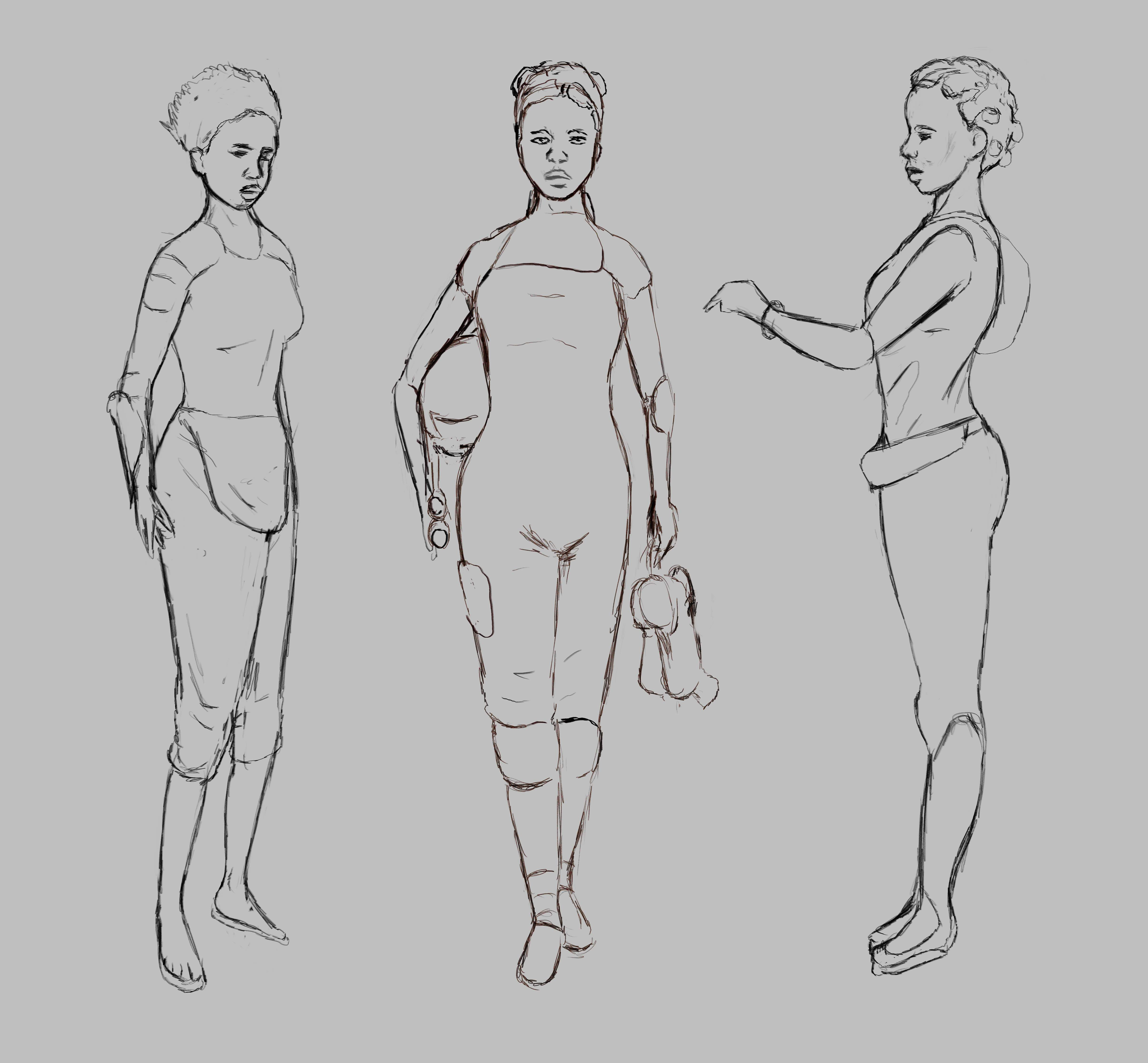 concept art, illration, black female character