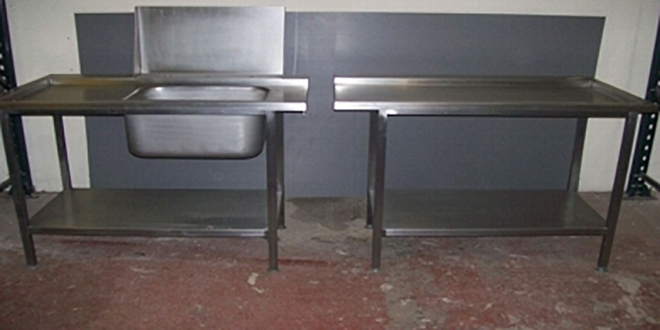 Stainless steel working top