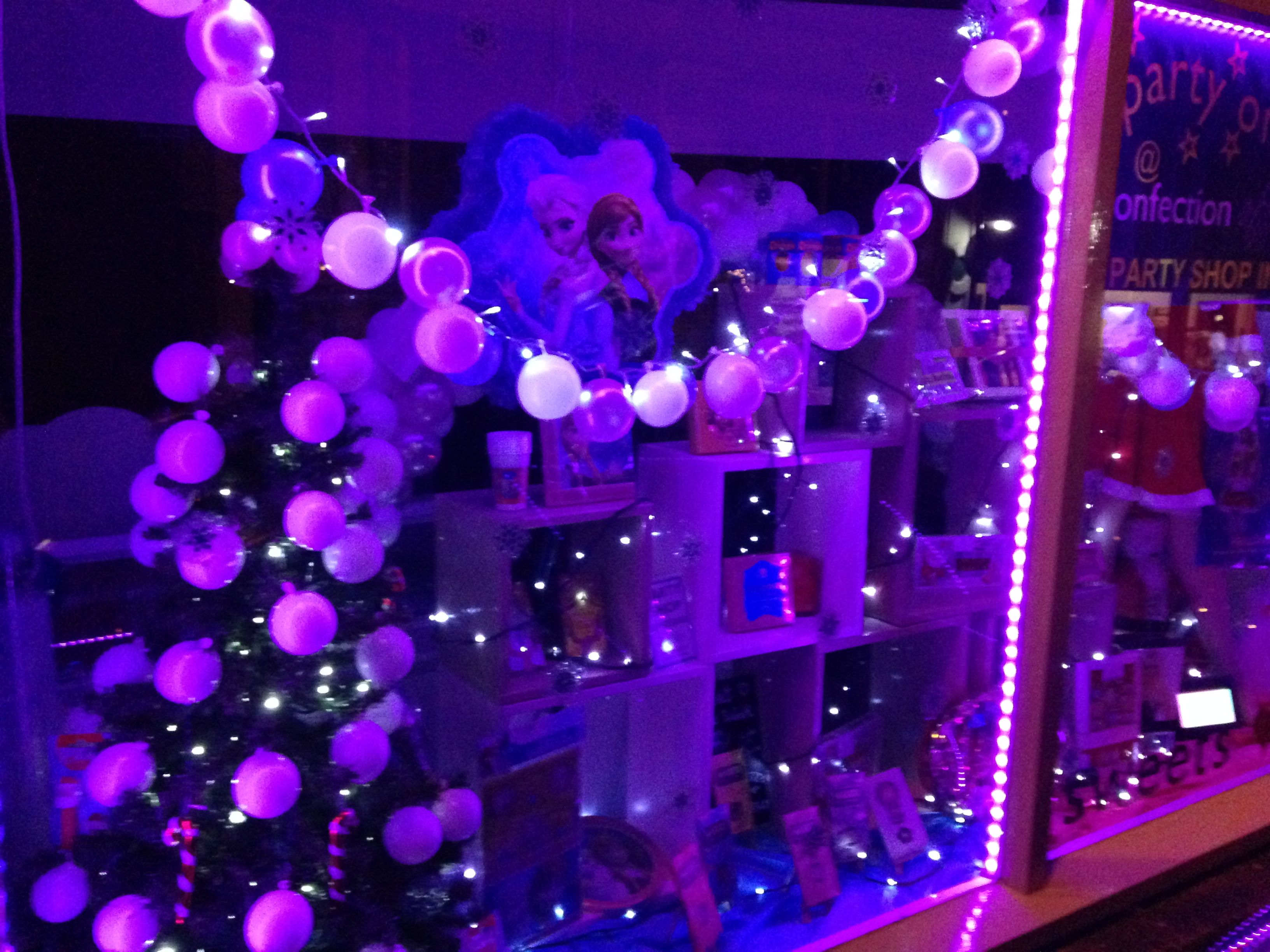 Frozen Christmas Themed Window