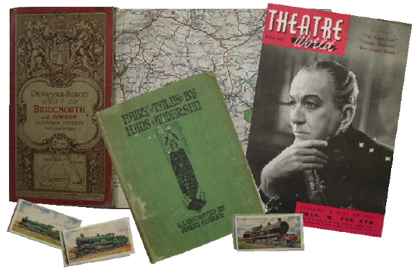Jeremy's Books of Southampton, England, sell a wide range of old, vintage and collectable books, maps, cigarette and tea cards in the UK and worldwide