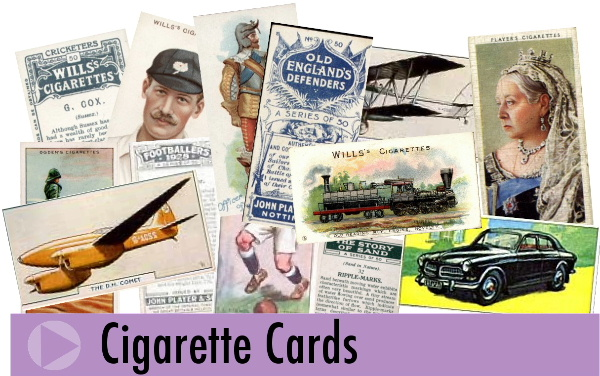 Jeremy's Cards of Southampton, England, sell a wide range of vintage cigarette and tea cards