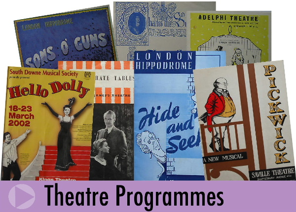 Jeremy's Books of Southampton sells vintage theatre programmes to collectors worldwide
