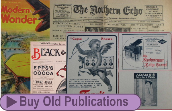 Collectable historic newspapers and magazines sold by Jeremy's Books of Southampton