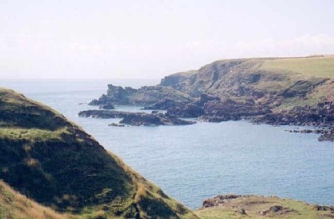 A cliff-top view of the Mull of Galloway