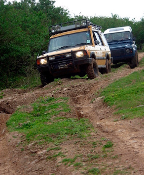Landrovers on a 4x4 Treks Scotland tour