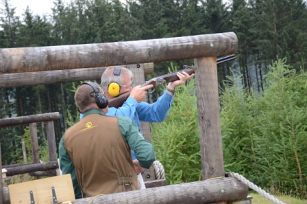 At a shooting range in the Galloway Forest