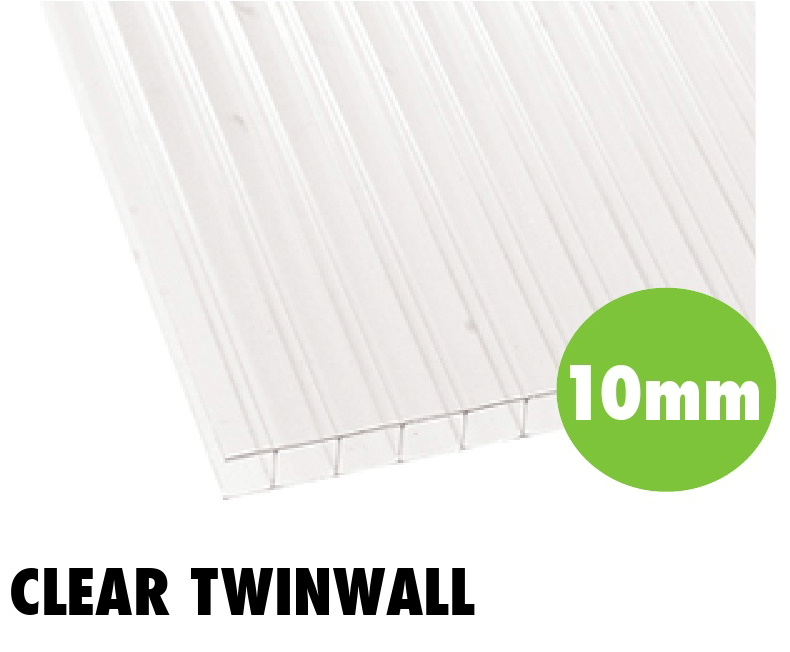 10mm clear twinwall polycarbonate sheets from Bicester UPVC direct