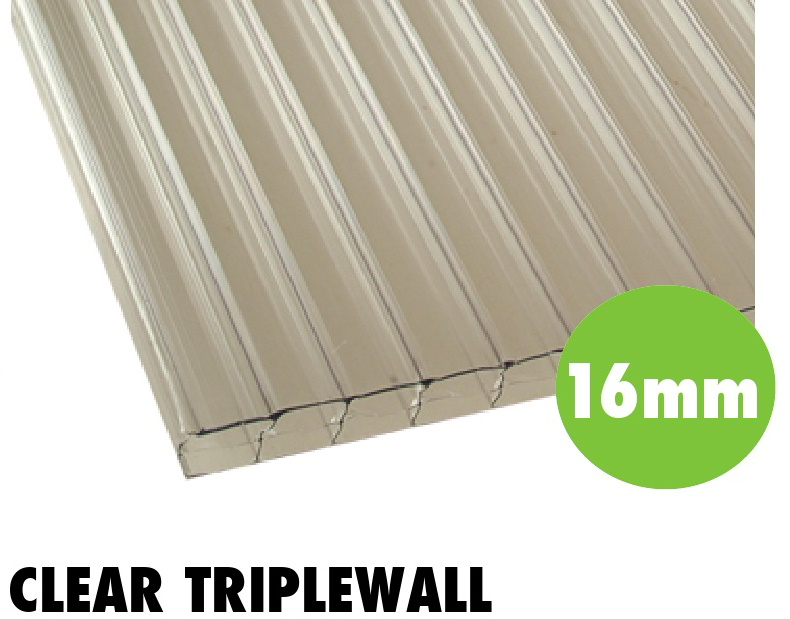 16mm clear triplewall polycarbonate sheets from Bicester UPVC direct