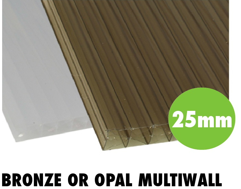 25mm bronze or opal multiwall polycarbonate sheets from Bicester UPVC direct