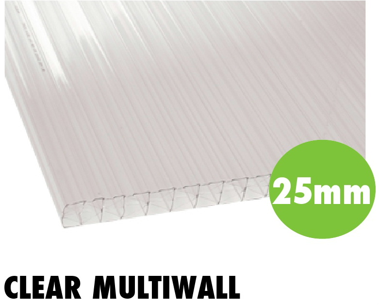25mm clear multiwall polycarbonate sheets from Bicester UPVC direct