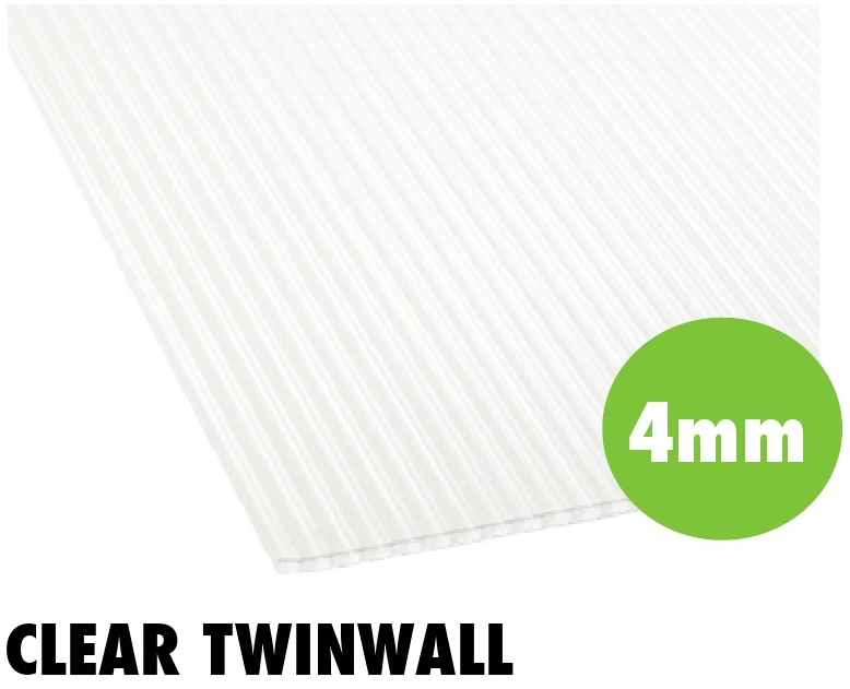 4mm clear twinwall polycarbonate sheets from Bicester UPVC direct