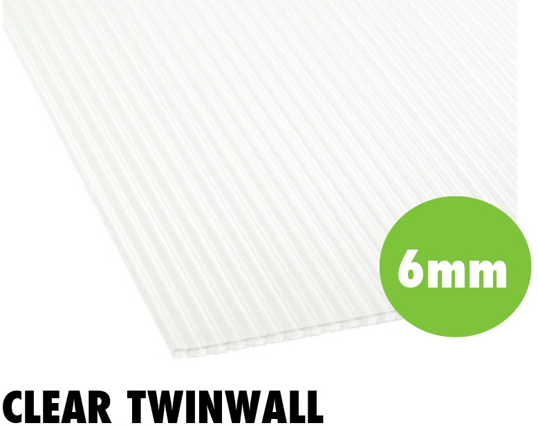 6mm clear twinwall polycarbonate sheets from Bicester UPVC direct