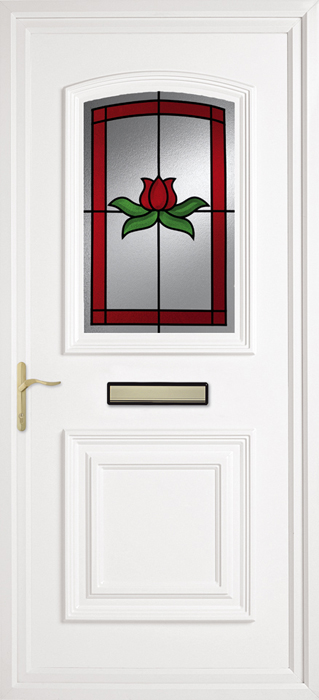 Red Rose uPVC panel door from Bicester UPVC direct
