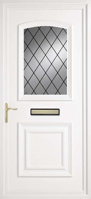 Bluntisham Diamond Lead uPVC panel door from Bicester UPVC direct