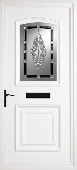 Bluntisham Black uPVC panel door from Bicester UPVC direct