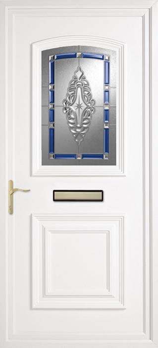 Bluntisham Blue uPVC panel door from Bicester UPVC direct