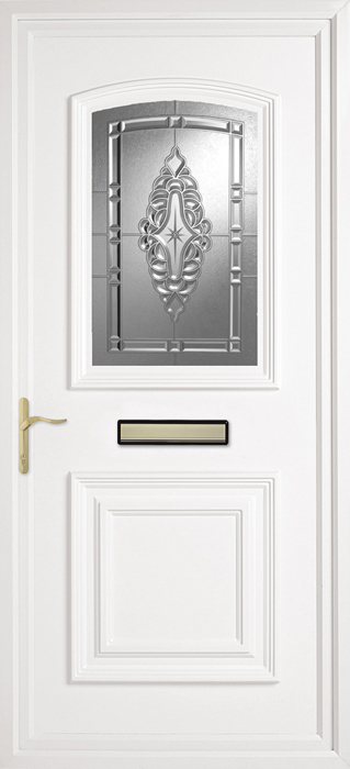 Bluntisham Clear uPVC panel door from Bicester UPVC direct